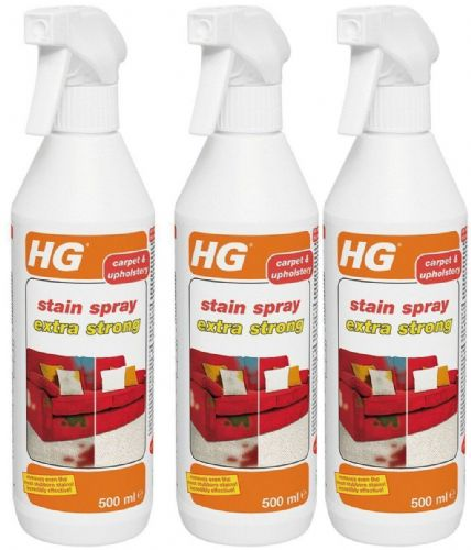 HG Stain Spray Extra Strong for Carpets & Upholstery 500ml Pack of 3